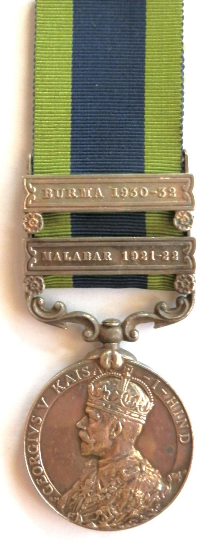 Indian General Service 1908. Rfmn. Malang La. 3rd -7th Gurkha Rifles.