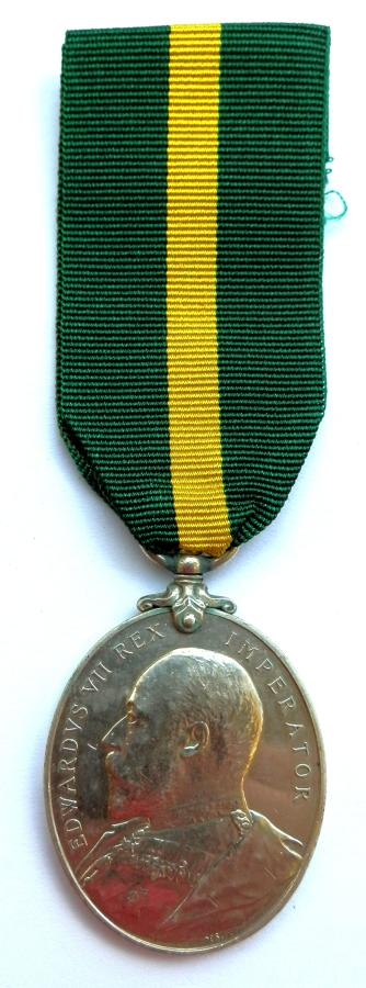 Territorial Force Efficiency Medal. Cpl. R.F. Gilpin. 5th Devon Regt.