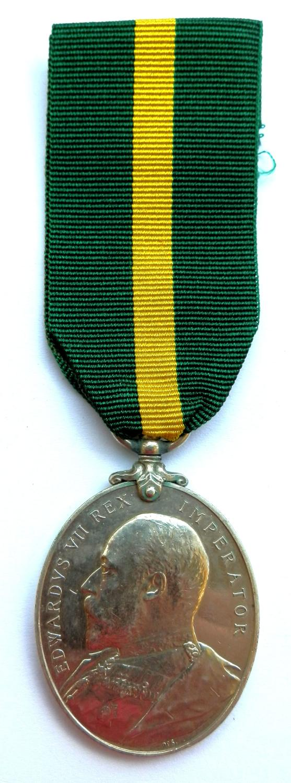Territorial Force Efficiency Medal. Cpl. R.F. Gilpin. 5th Devon Regt.