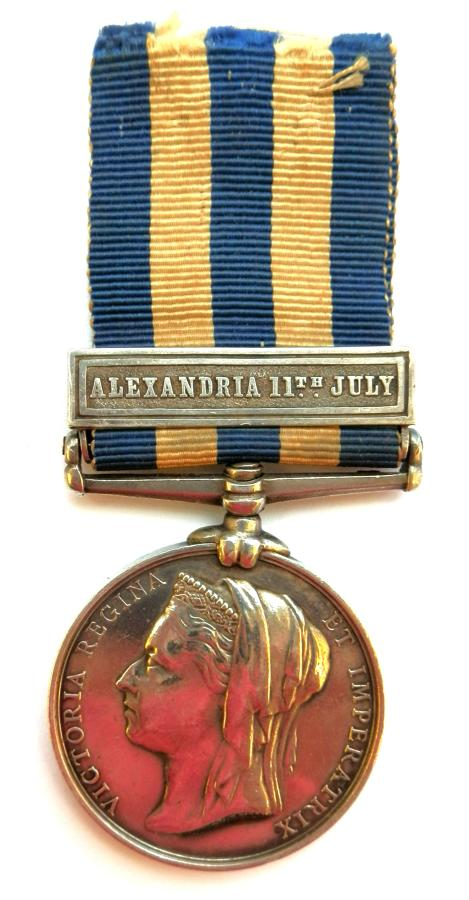 Egypt Medal 1882-89. Leading Seaman G.Littlewood, HMS Invincible