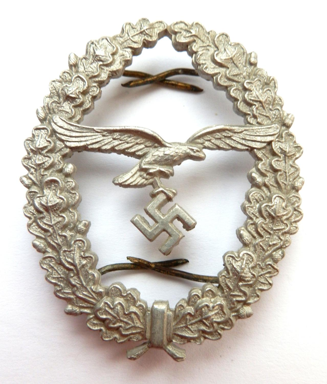 Marksmanship Luftwaffe  Lanyard 1936 Pattern Badge.