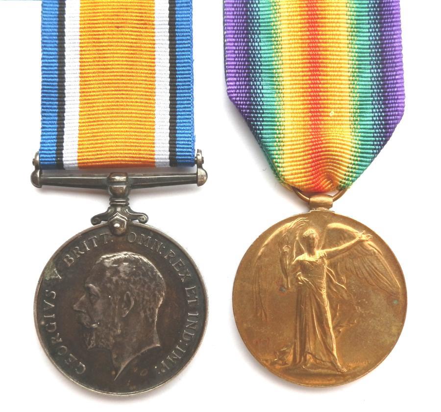 PAIR. Private John Charles Miller. 2/5th Gloucester Regiment.