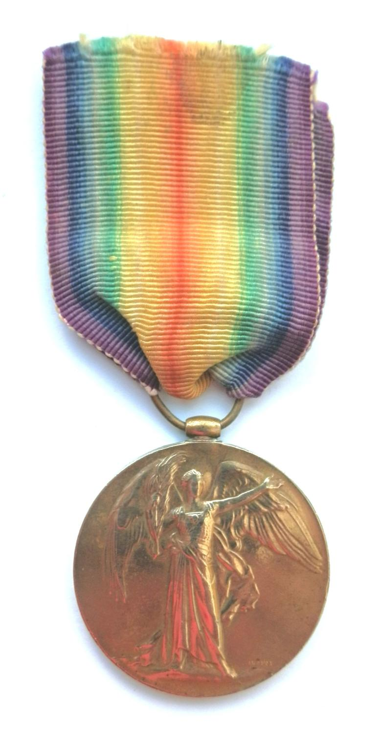 Victory Medal. Private James Scott. The Queen's Regiment