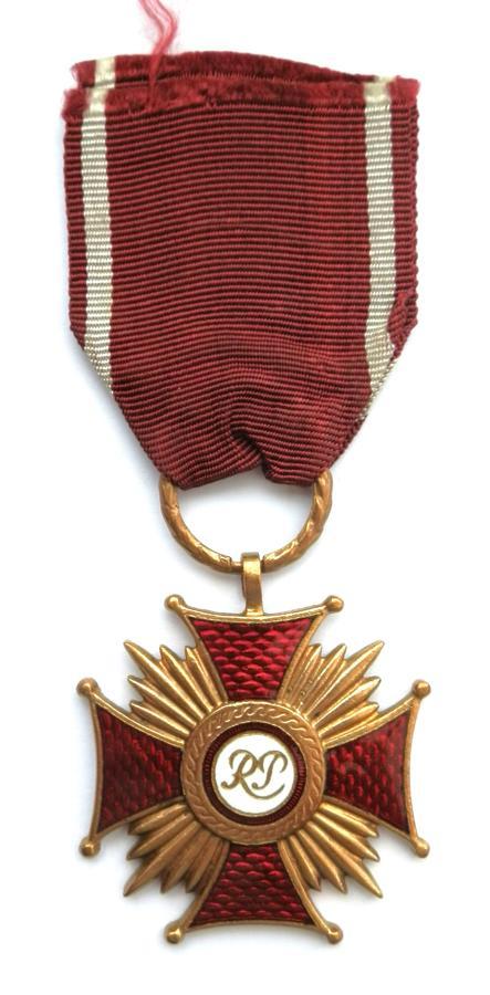 Polish Gold Cross, Medal of Merit.