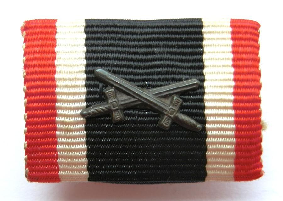 Merrit Cross, 2nd Class with Swords  Medal Ribbon Bar.