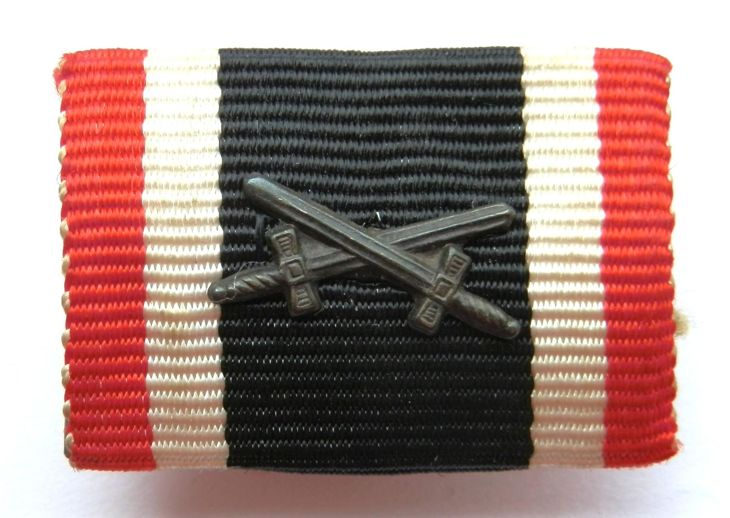 Merrit Cross, 2nd Class with Swords  Medal Ribbon Bar.