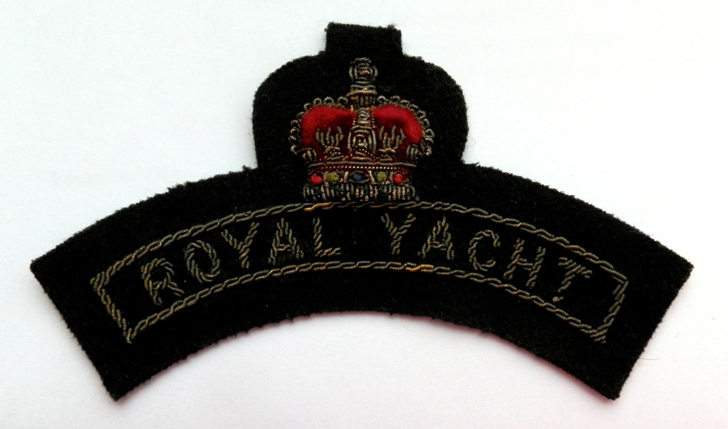 Royal Yacht Britannia Bullion Shoulder Insignia.