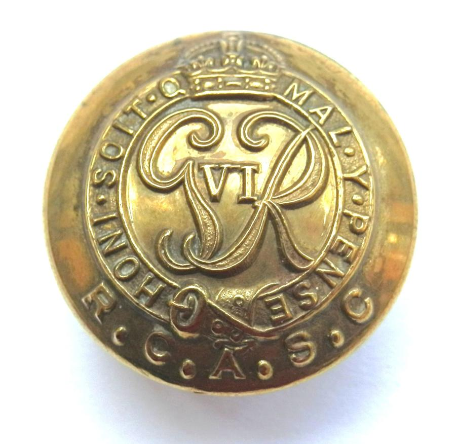 Royal Canadian Army Service Corps Button