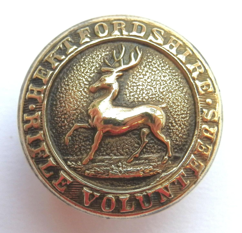 Hertfordshire Rifle Volunteers Button