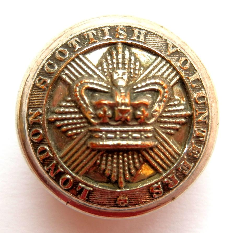 London Scottish Volunteers Button