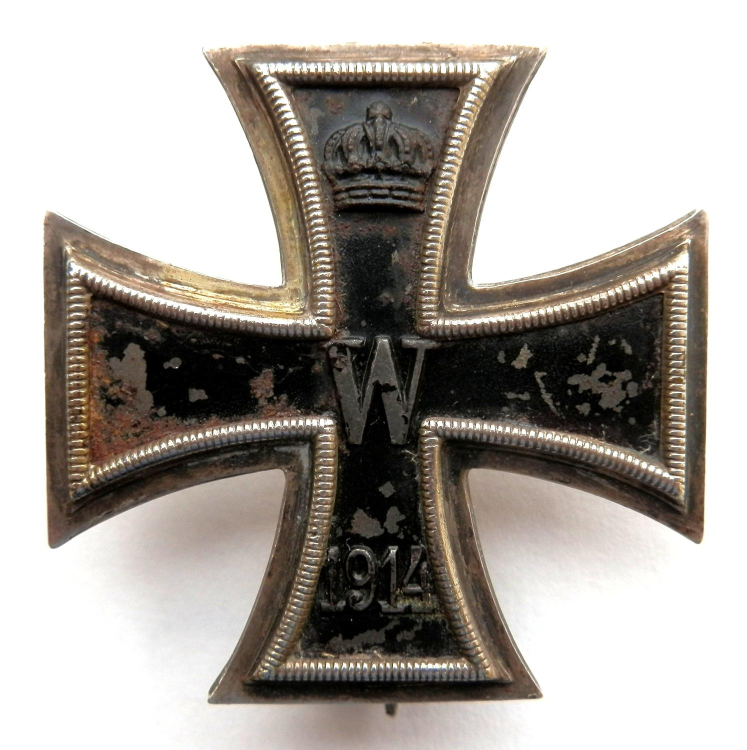 Imperial German Iron Cross, 1st Class.Makers marked KO