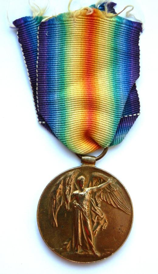 Victory Medal. Private Thomas J. Wright. Liverpool Regiment
