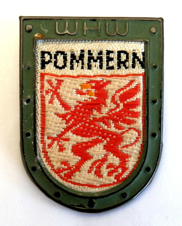 WHW (Winterhilfswerk) Pommern Tinnie.