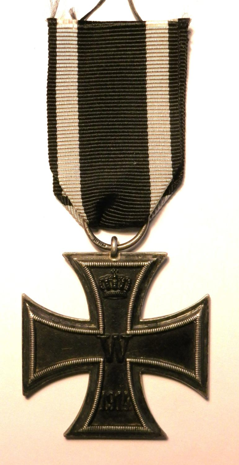 Imperial German WWI, Iron Cross 2nd Class. Makers Marked WILM.
