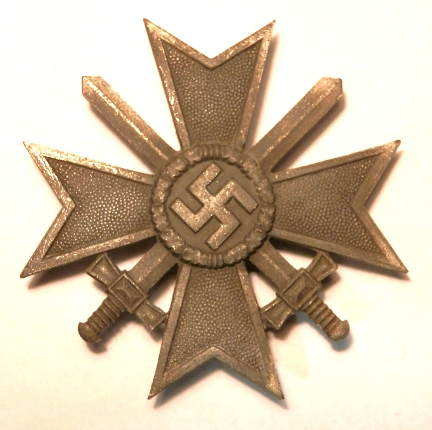 War Merit Cross 1st Class with Swords. Non maker marked.