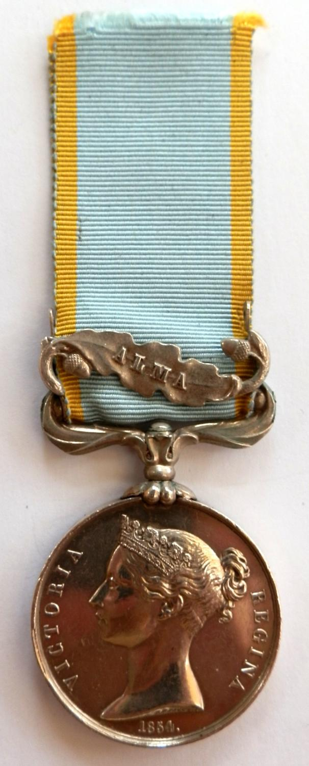 Crimea Medal 1854-56. Pte. W, Harris. 2nd Rifle Brigade. Wounded.