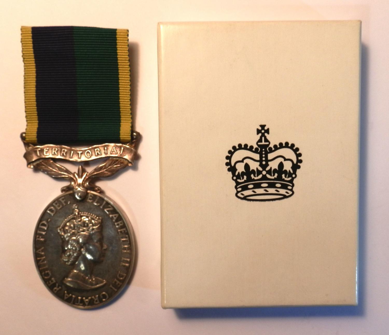 Efficiency Medal Clasp Territorial. Sgt. M. W. Kinton. Royal Engineers