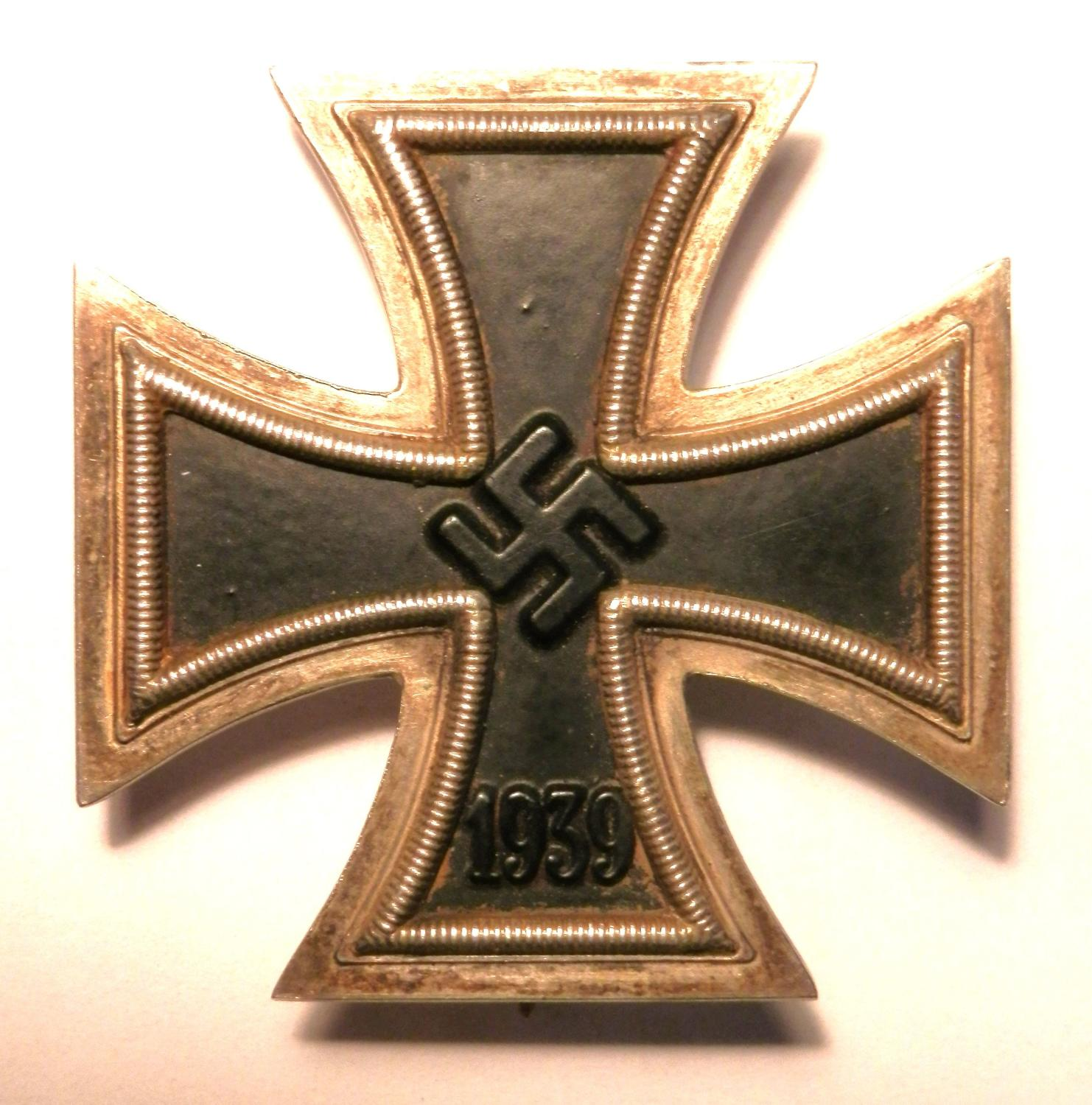 Third Reich Iron Cross, 1st Class. Makers mark 24.