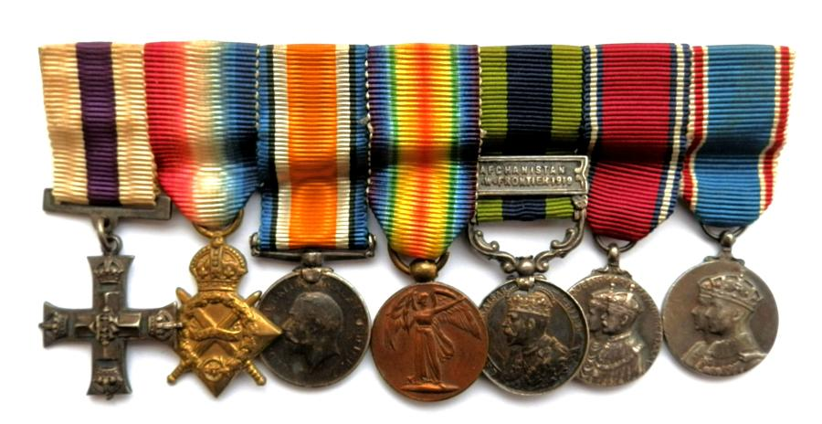 Contemporary Gallantry Group of Seven Miniature Medals. Un-attributed.