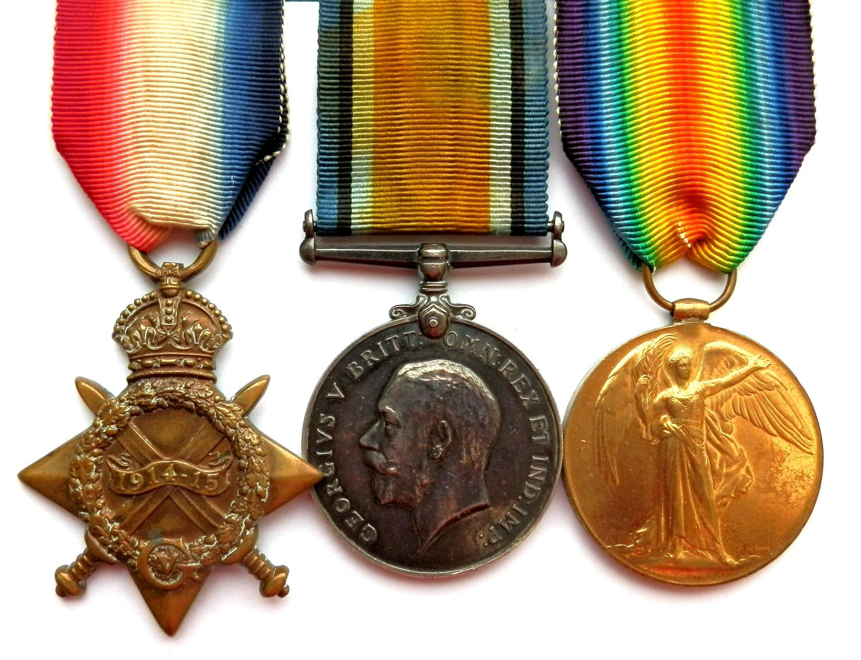 TRIO. Private Corporal Charles J. Clarke. 7th Wiltshire Regiment.
