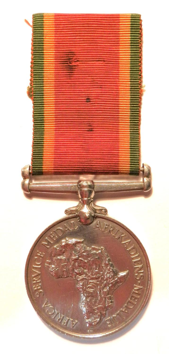 Africa Service Medal WWII 39-45. G.E, Erasmus