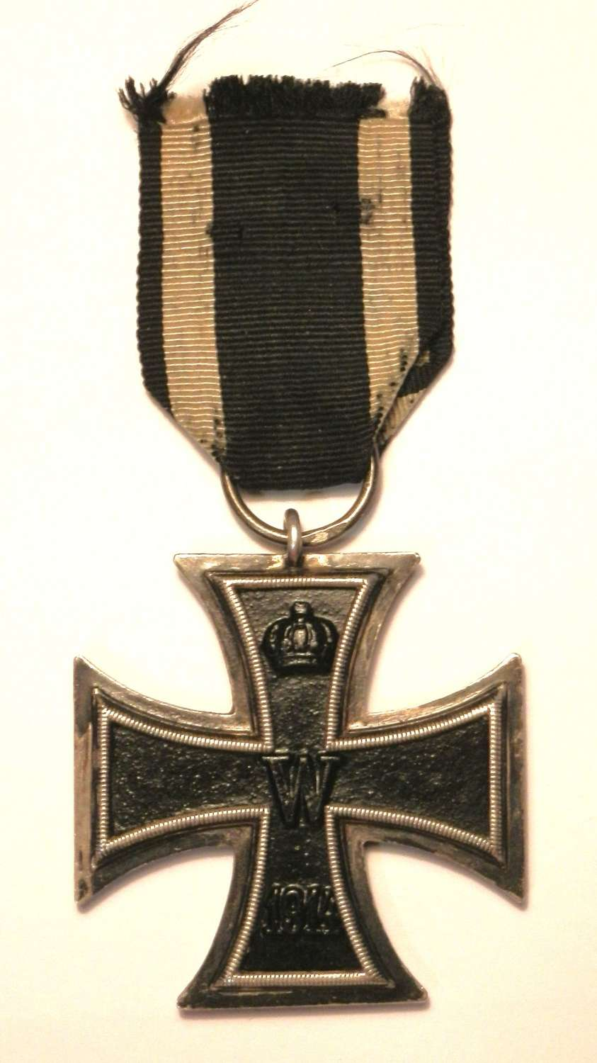 Imperial German WWI, Iron Cross 2nd Class. Makers Marked KAG