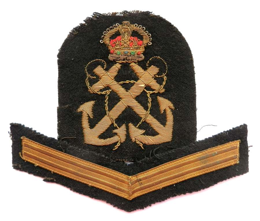 Royal Naval Petty Officers Sleeve Cloth Rank Badge.