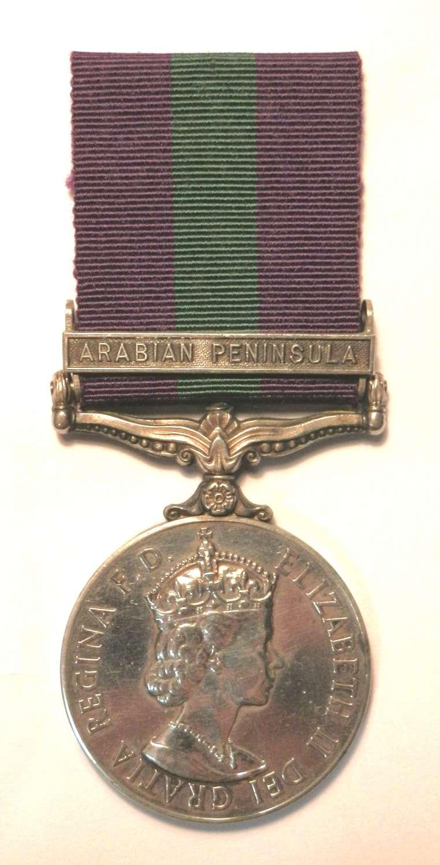 G.S.M. 1918-62. Cpl E.G. Martin. Royal Air Force