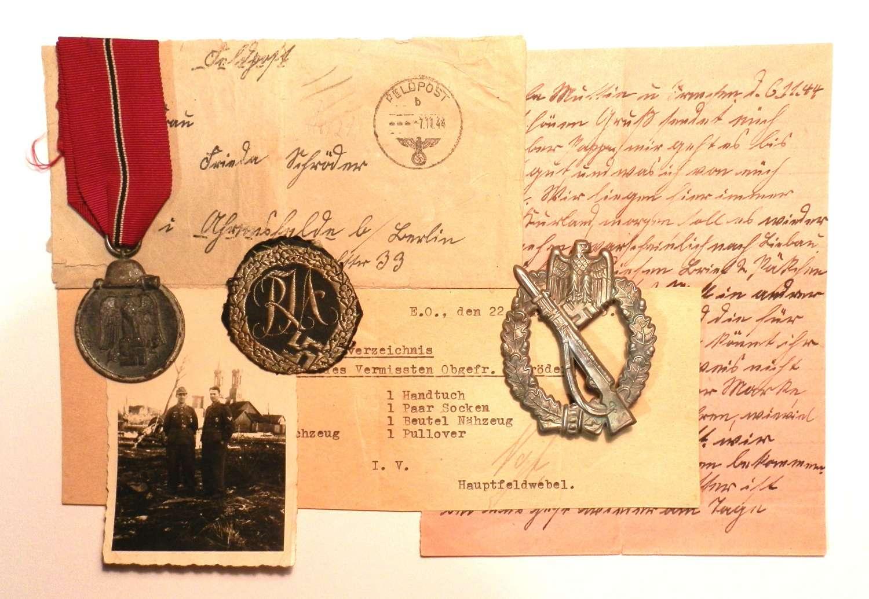 Obergefreiter Schroder, 1st/4th Kompanie Grenadier Regt 358. K.I.A.
