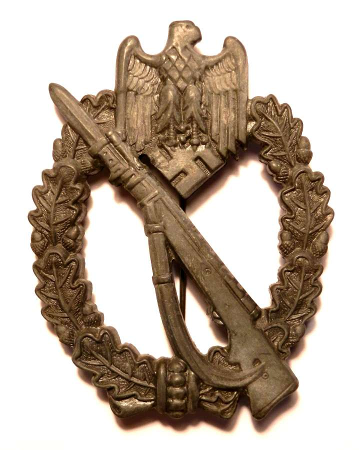 German Infantry Assault Badge. By 'AS' Adolf Scholze.