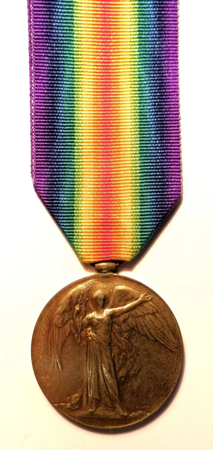 Victory Medal. Private William H. Clements. Honourable Art. Coy.
