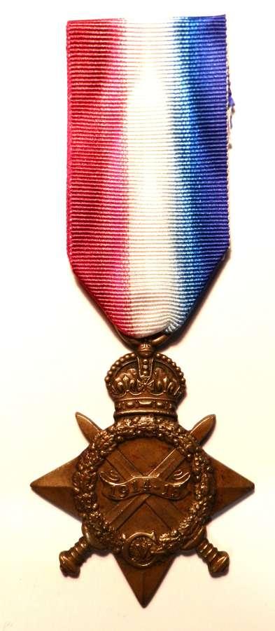 1914-15 Star. Sowar Sultan Khan. 37th Lancers.