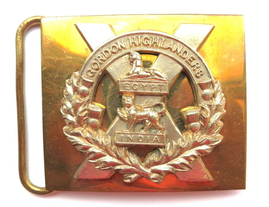 Gordon Highlanders Waist Belt Plate