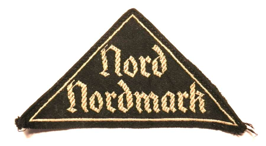 Nord Nordmark, HJ or BDM, District Triangle Cloth Insignia.