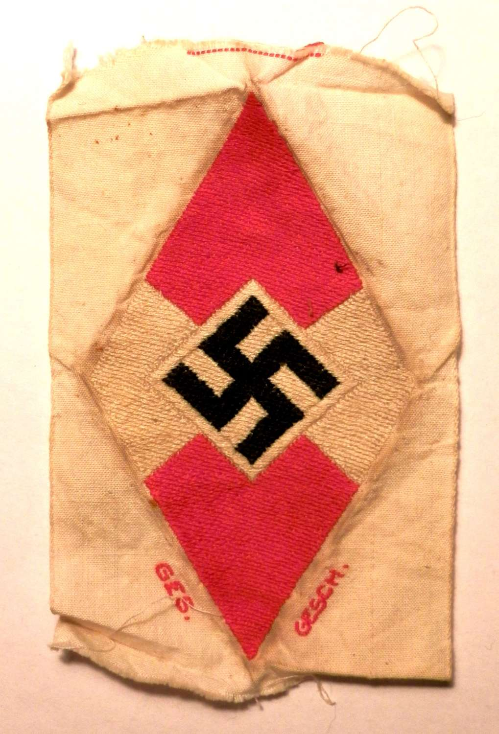 Hitler Youth Cloth Bevo Insignia Badge.