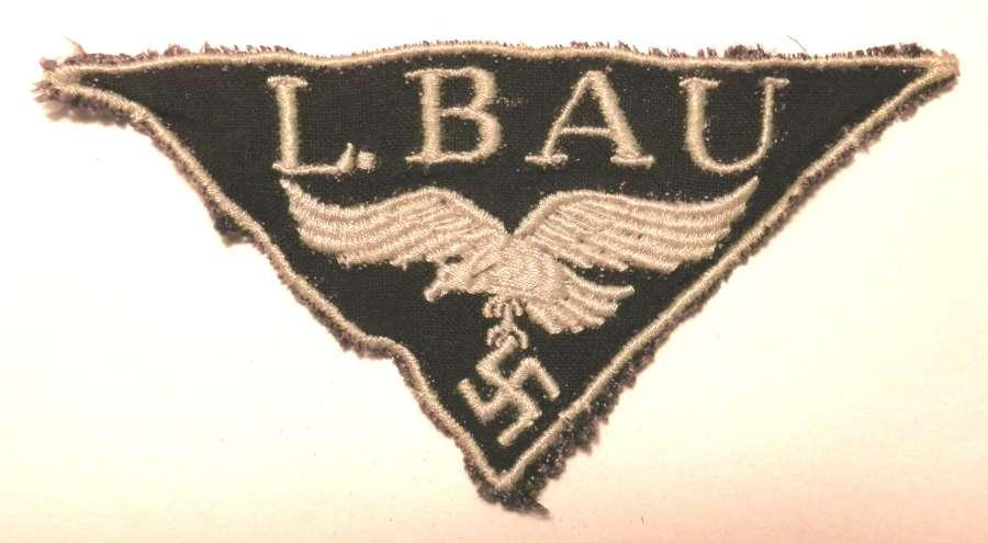 L.BAU, Luftwaffe Construction Workers Badge.