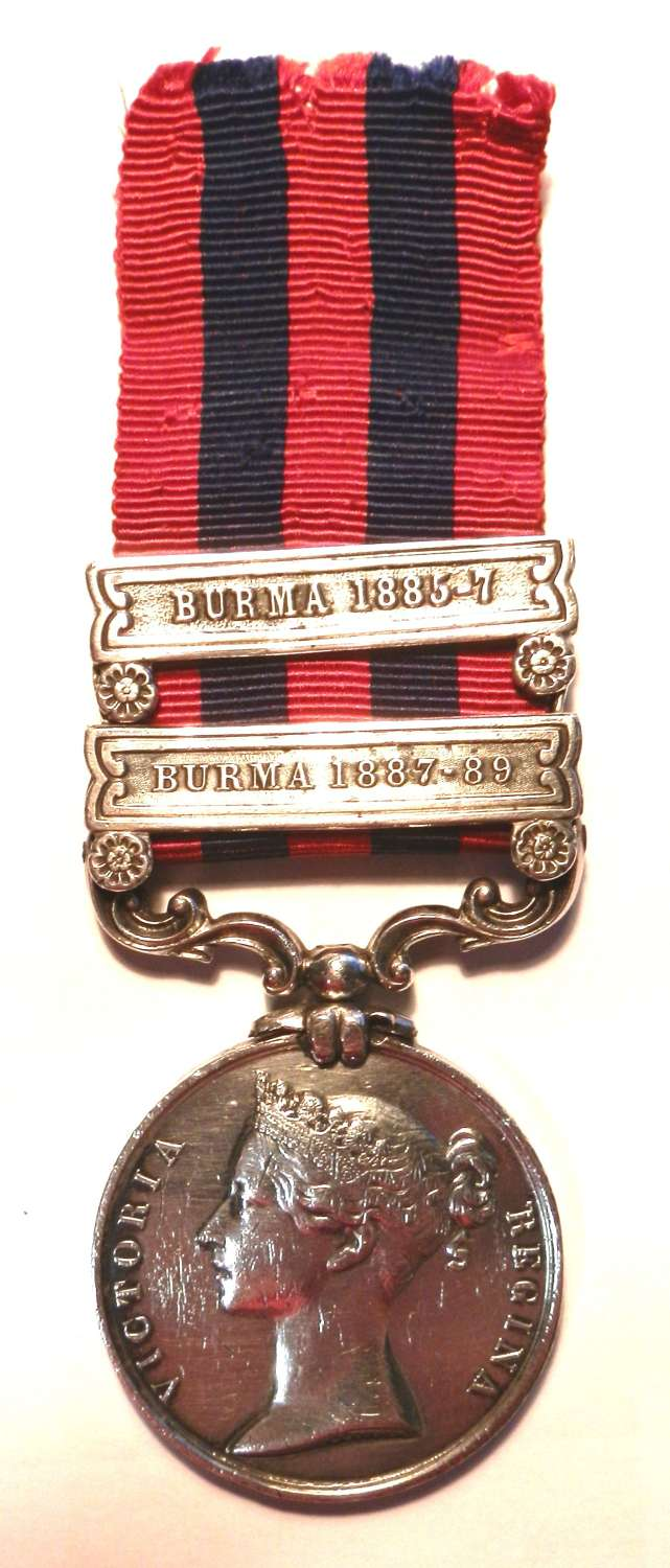 Indian General Service 1854. Pte Edward Diss.  R. W. Surrey Regt.