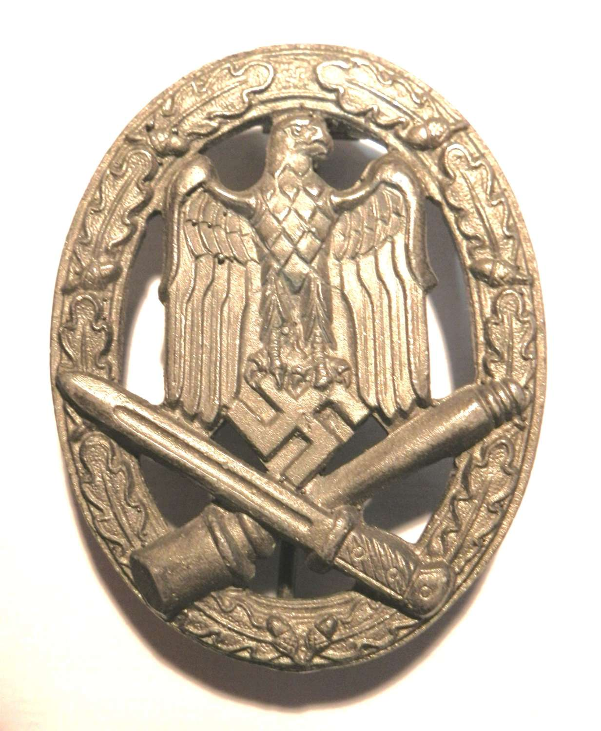 German General Assault Badge. Maker marked F.O.