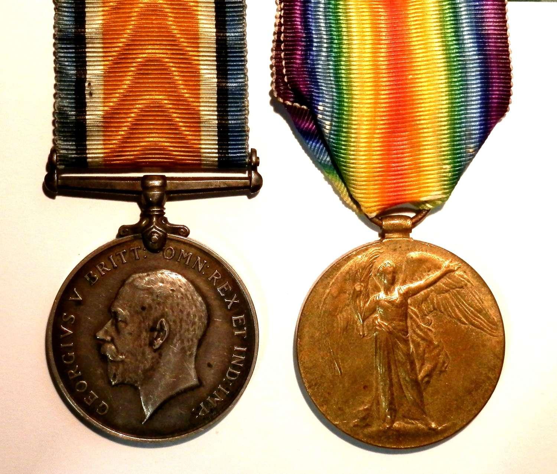 PAIR. Acting Sergeant Herbert Todd. Army Veterinary Corps,