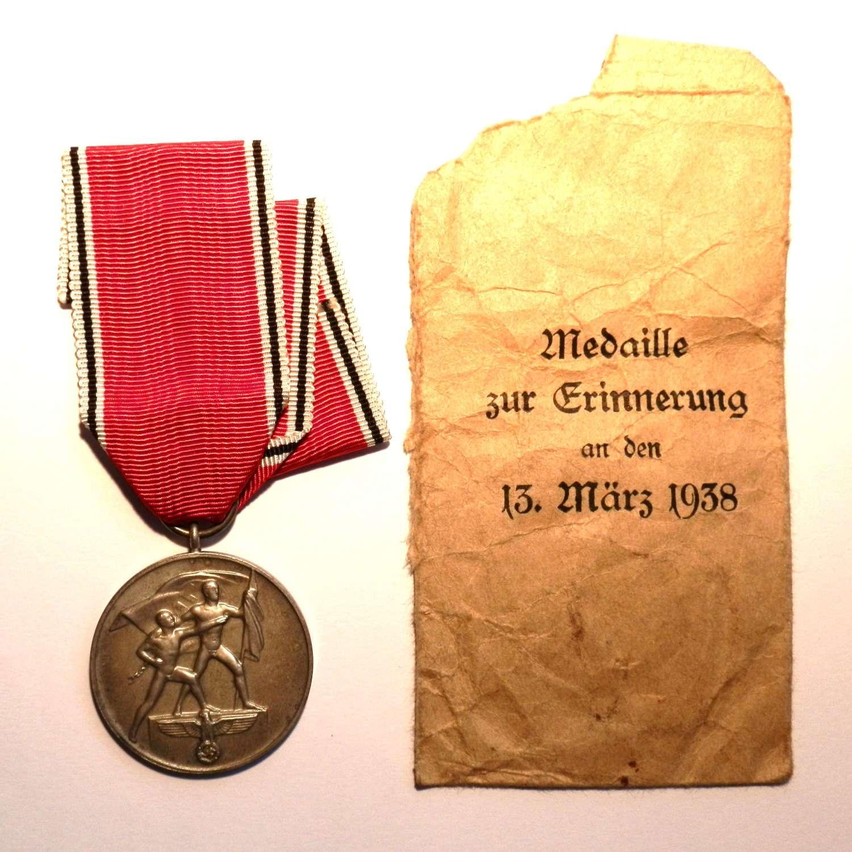 Austrian Anschluss Commemorative Medal.