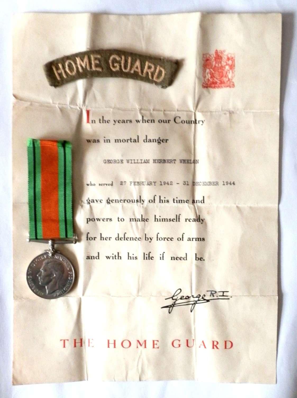 GROUP. George William Herbert Whelon. The Home Guard