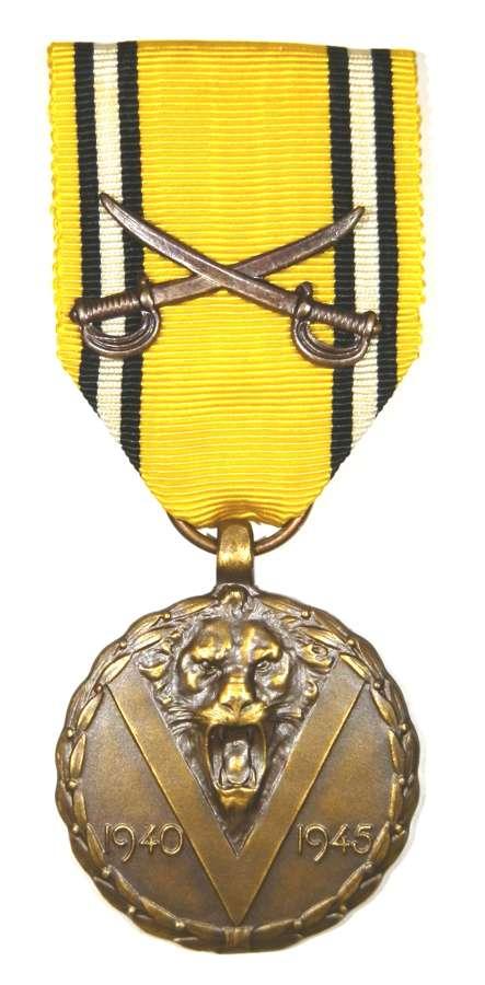 Belgium 1939-45 War Medal with Cross Swords