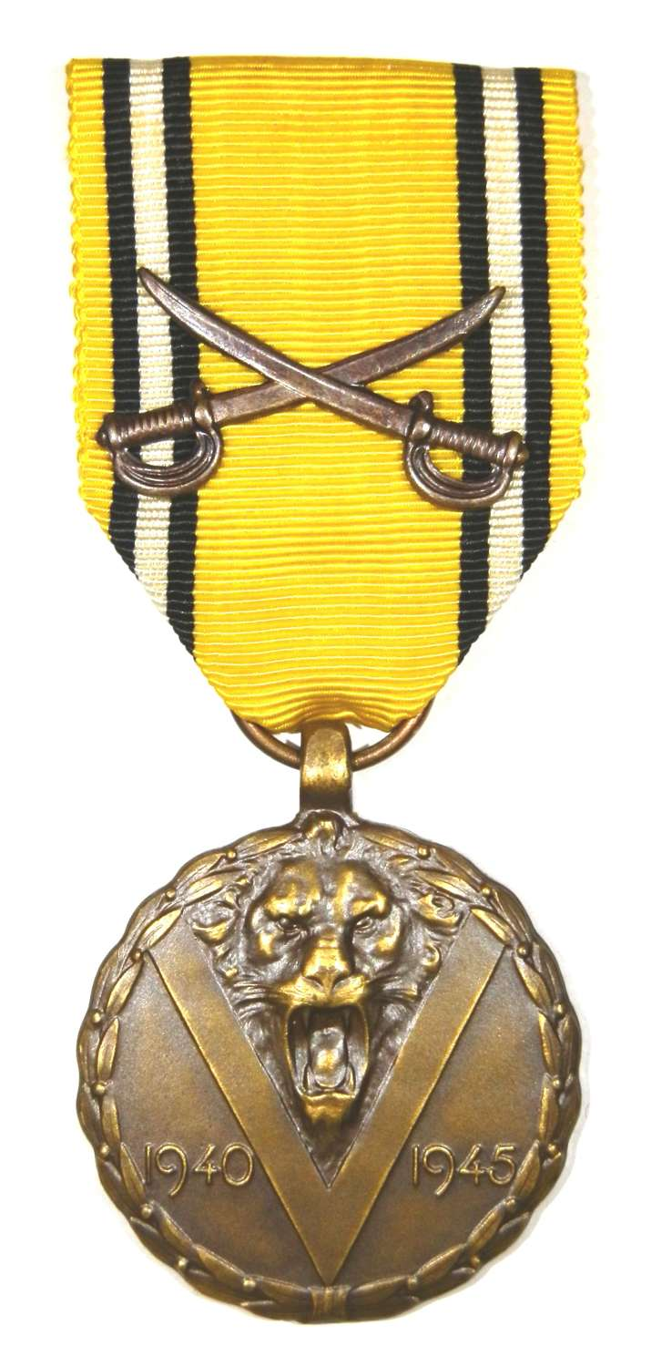 Belgium 1939-45 War Medal with Cross Swords
