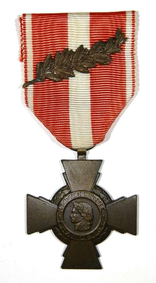 Croix De La Valeur Militarire. 'French Military Cross of Valour'.