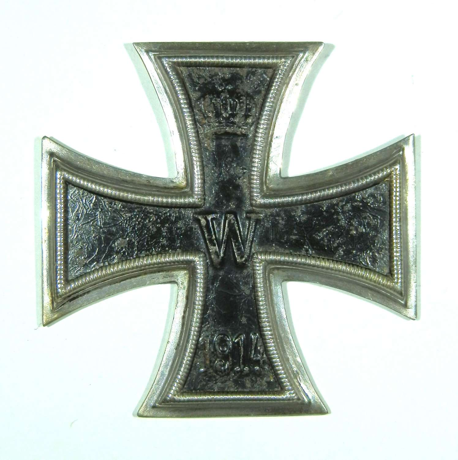 Imperial German Iron Cross, 1st Class. Makers marked KO