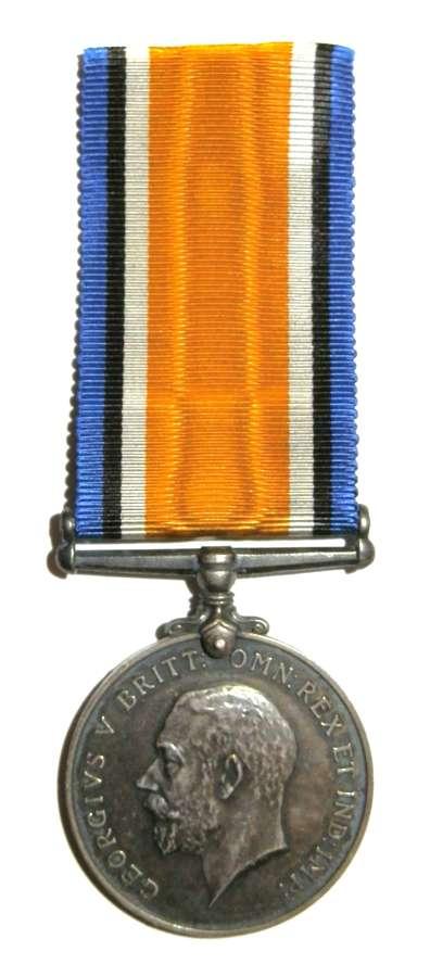 British War Medal. Sjt M. Hubbard. Canadian G.A. Died