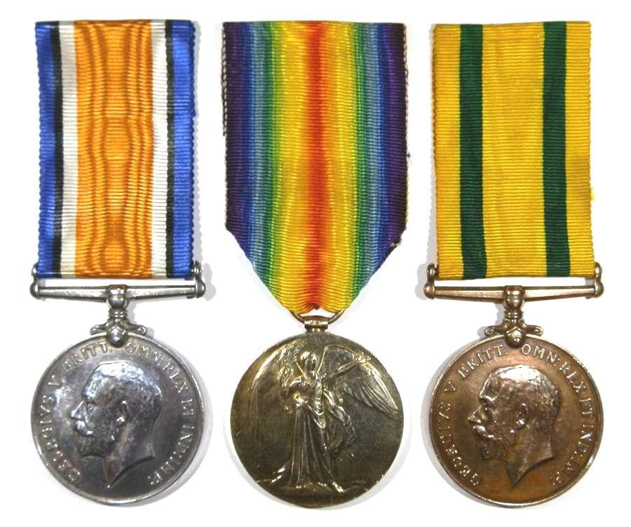 Group of Three. 396 Gunner Robert Barry.Royal Artillery