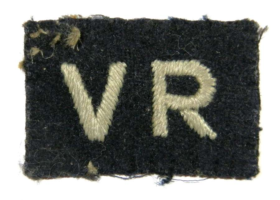 Royal Air Force Volunteer Reserve Cloth Badge.
