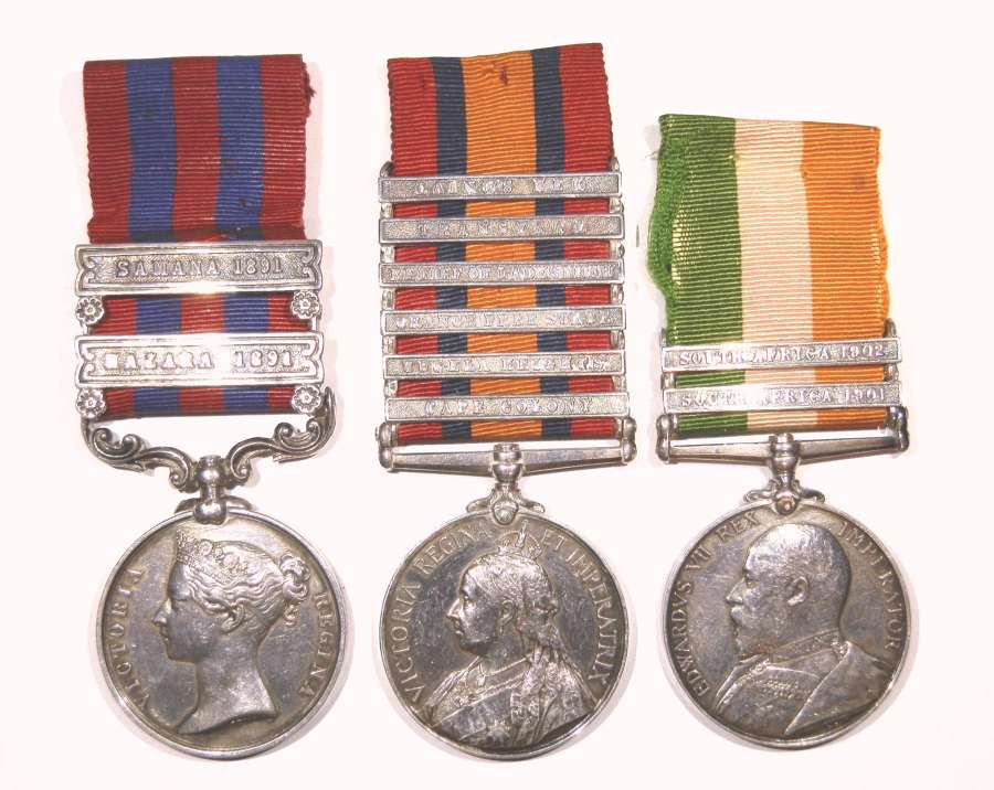 GROUP OF THREE. 5629 Corporal W. R. Huff. Kings Royal Rifle Corps.