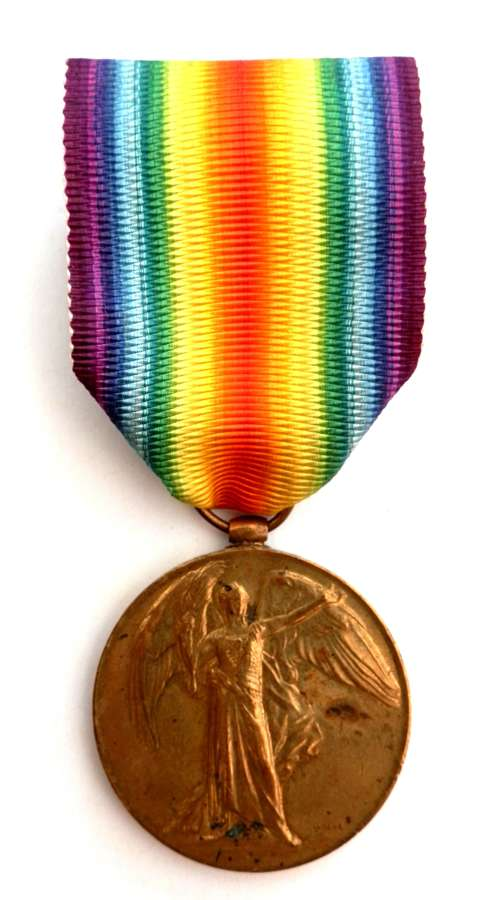 Victory Medal. Private James Wall, 13th Bn. K.R.R.C. K.I.A.